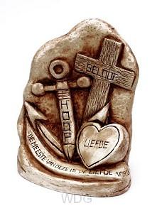 Geloof hoop en liefde op voet