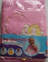 Babydeken fleece roze zonder tekst