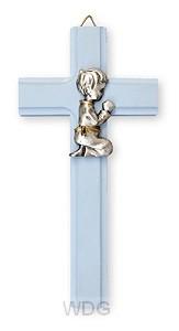 Kruis 15x7,5 rose communie jongen