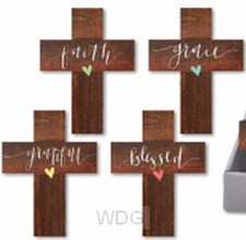 Wood mini crosses set4