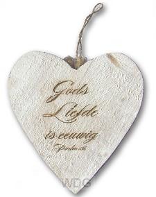 Houten hart Gods liefde is eeuwig