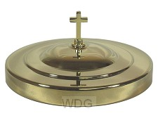 Communion breadplatecover gold