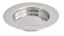 Communion breadplate stacking silver