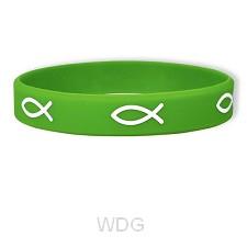Armband rubber vis groen