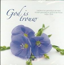 Prentbriefkaart God is trouw
