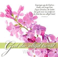 Prentbriefkaart God die altijd troost
