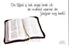 Prentbriefkaart de bijbel is het enige b