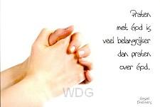 Prentbriefkaart praten met God