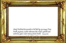 Prentbriefkaart want alzo lief had God