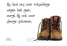 Poster als God ons over rotsachtige...