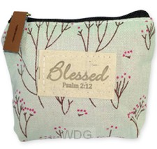 Coin pouch blessed blue