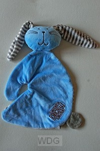Rabbit cuddle blue Gods original
