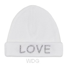 Baby hat love white