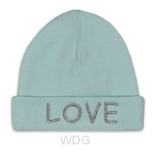 Baby hat love mint