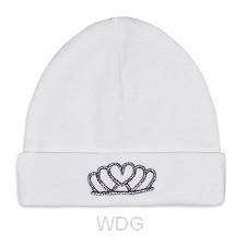 Baby hat tiara white
