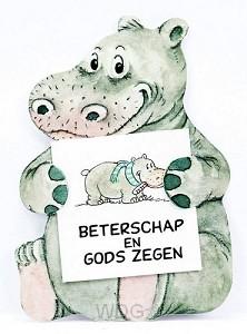Kadokaartje nijlpaard betersch en gods z