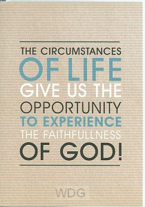 Wk puur circumstances of life
