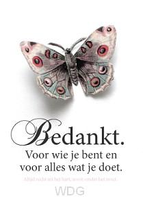 Wk puur bedankt vlinder