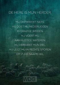 Wenskaart De Here is mijn Herder
