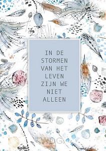 Poster in de stormen van het leven