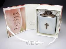 Waxinelicht 12.5cm kruis de Heer is mijn