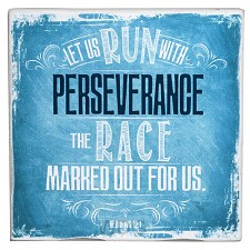 Let us run with perseverance - Blue