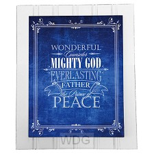 Wonderful counselor Mighty God - Blue (W