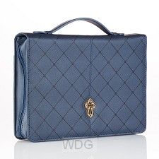 Cross - Blue - Large - LuxLeather