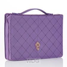 Cross - Purple - Medium - LuxLeather