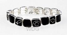 Armband schakels symbolen zwart