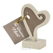 Reunion heart figurine