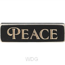 Peace - Engraved Wall/Tabletop Sign - 15