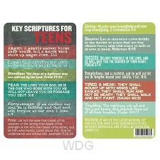 Key scriptures for teens