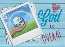 Prentbriefkaart God is overal