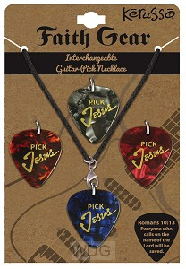 Pick Jesus - Leather corded with 4 picks