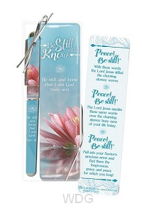 Pen/bookmark be still and know