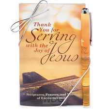 Pen/Devotional Set Serving joy Jesus