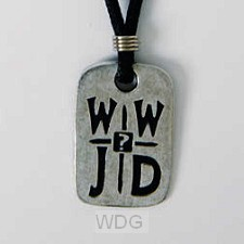 WWJD? - Leadfree pewter tag