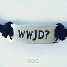 WWJD? - Leadfree pewter ID-tag
