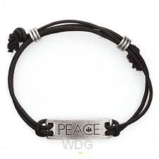 PEACE - Leadfree pewter tag