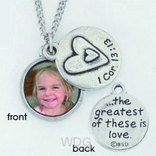 Photo necklace - 1 Cor. 13:13