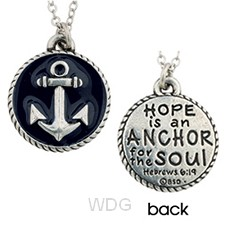 Round pendant with anchor