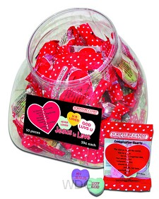 Conversation hearts - 50 bags in jar