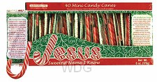 Christmas Candy Canes Jar (120 pieces)