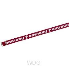 Armband geweven one way d rood