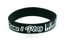 Armband in Jesus name I play silicone