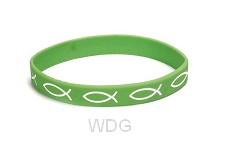 Armband vis groen sillicone
