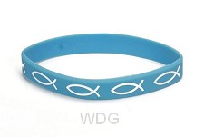 Armband vis blauw silicone