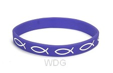 Armband vis paars silicone