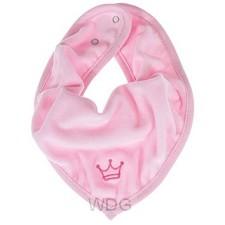 Baby bandana kroontje rose